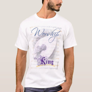 Worship the King (lute) tee