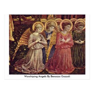 Worshiping Angels By Benozzo Gozzoli Postcard