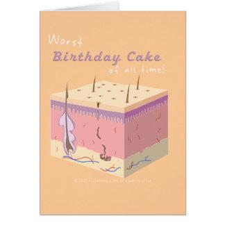 WORST BIRTHDAY CAKE CARD