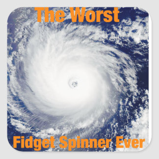 Worst Fidget Spinner Ever Guitar case Square Sticker