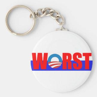 Worst President Anti Obama Keychain