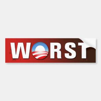 Worst President Bumper Sticker