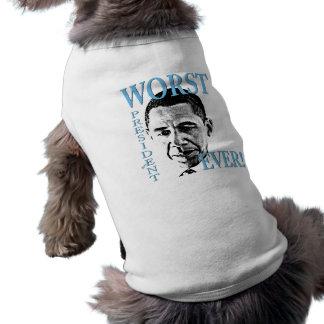Worst President Ever! Sleeveless Dog Shirt