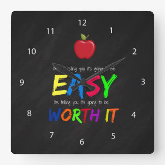 Worth it square wall clock
