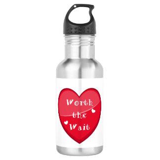 Worth the Wait - Adoption - New Baby 532 Ml Water Bottle
