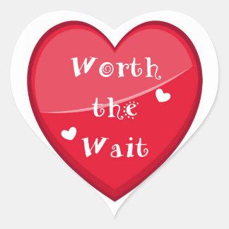 Worth the Wait - Adoption - New Baby Heart Sticker