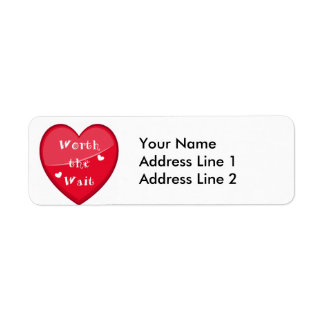 Worth the Wait - Adoption - New Baby Return Address Label