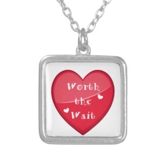 Worth the Wait - Adoption - New Baby Silver Plated Necklace