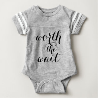 Worth The Wait Baby Funny Cute Baby Baby Bodysuit