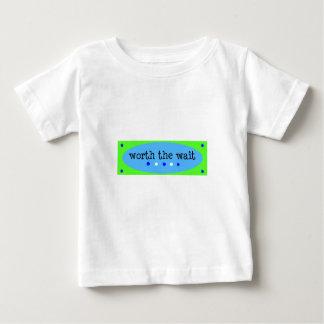 Worth the Wait Blue Baby T-Shirt