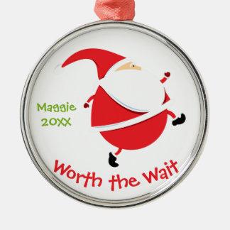 Worth the Wait - Customized Santa Adoption Gift Metal Ornament