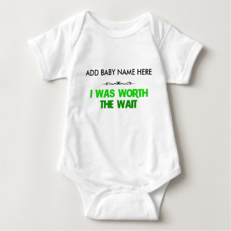 'Worth the Wait' Cute Baby Romper/Bodysuit Baby Bodysuit