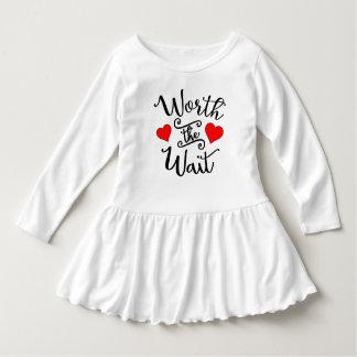 Worth the Wait Toddler Ruffle Dress