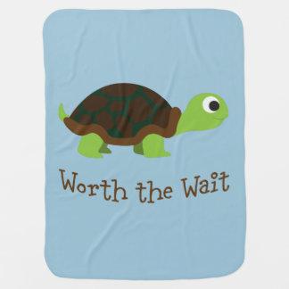 Worth The Wait Turtle Baby Blanket