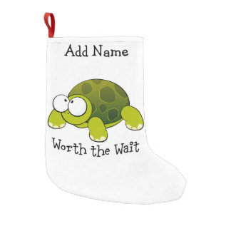 Worth The Wait Turtle Small Christmas Stocking