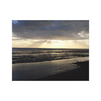 Worthing beach canvas print