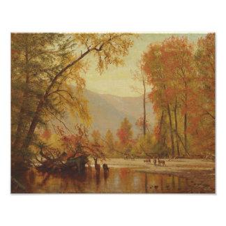 Worthington Whittredge - Autumn on the Delaware Art Photo