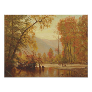 Worthington Whittredge - Autumn on the Delaware Photographic Print