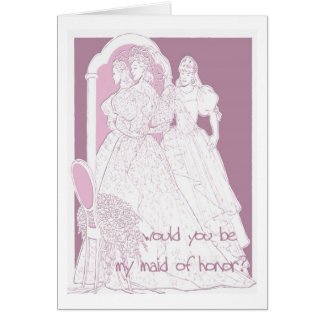 would you be my maid of honour greeting card
