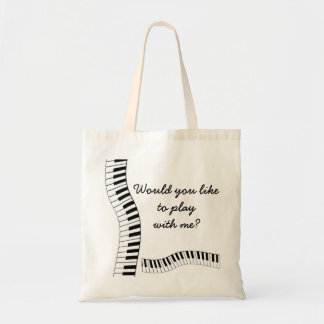Would you liketo play with me? budget tote bag