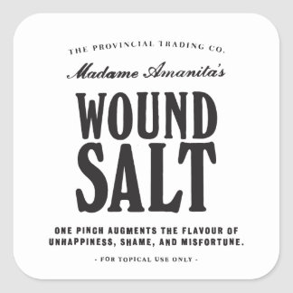 Wound Salt - apothecary label