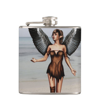 Wounded Angel Hip Flask