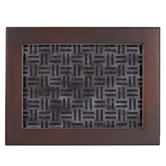 WOVEN1 BLACK MARBLE & BLACK WATERCOLOR (R) KEEPSAKE BOX