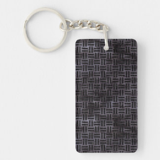 WOVEN1 BLACK MARBLE & BLACK WATERCOLOR (R) KEY RING