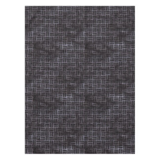 WOVEN1 BLACK MARBLE & BLACK WATERCOLOR (R) TABLECLOTH