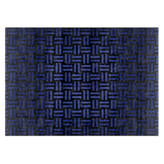 WOVEN1 BLACK MARBLE & BLUE BRUSHED METAL CUTTING BOARD