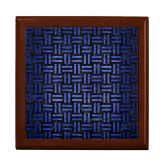 WOVEN1 BLACK MARBLE & BLUE BRUSHED METAL GIFT BOX