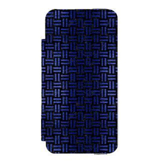 WOVEN1 BLACK MARBLE & BLUE BRUSHED METAL INCIPIO WATSON™ iPhone 5 WALLET CASE