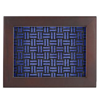WOVEN1 BLACK MARBLE & BLUE BRUSHED METAL KEEPSAKE BOX
