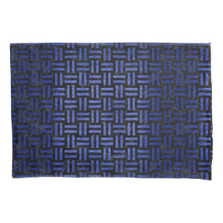 WOVEN1 BLACK MARBLE & BLUE BRUSHED METAL PILLOWCASE