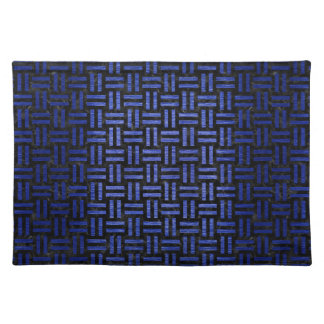 WOVEN1 BLACK MARBLE & BLUE BRUSHED METAL PLACEMAT