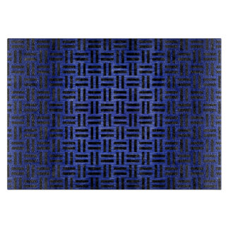 WOVEN1 BLACK MARBLE & BLUE BRUSHED METAL (R) CUTTING BOARD