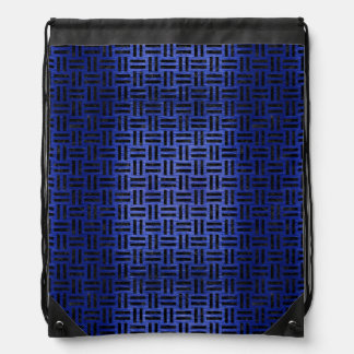 WOVEN1 BLACK MARBLE & BLUE BRUSHED METAL (R) DRAWSTRING BAG