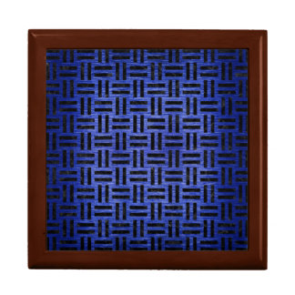 WOVEN1 BLACK MARBLE & BLUE BRUSHED METAL (R) GIFT BOX