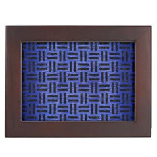 WOVEN1 BLACK MARBLE & BLUE BRUSHED METAL (R) KEEPSAKE BOX