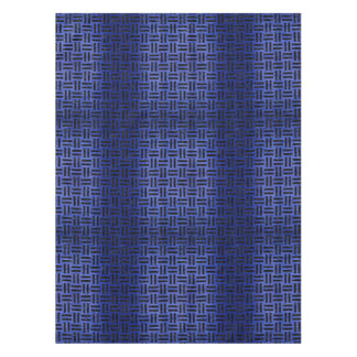 WOVEN1 BLACK MARBLE & BLUE BRUSHED METAL (R) TABLECLOTH
