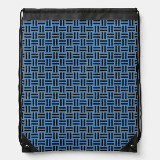 WOVEN1 BLACK MARBLE & BLUE COLORED PENCIL (R) DRAWSTRING BAG