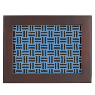WOVEN1 BLACK MARBLE & BLUE COLORED PENCIL (R) KEEPSAKE BOX