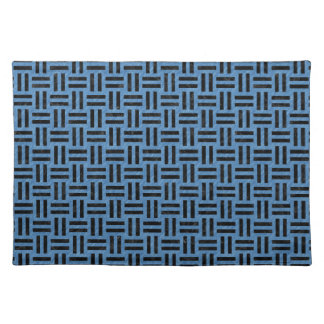 WOVEN1 BLACK MARBLE & BLUE COLORED PENCIL (R) PLACEMAT