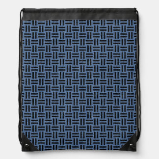 WOVEN1 BLACK MARBLE & BLUE DENIM (R) DRAWSTRING BAG