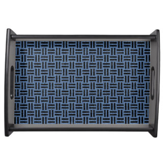 WOVEN1 BLACK MARBLE & BLUE DENIM (R) SERVING TRAY