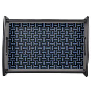WOVEN1 BLACK MARBLE & BLUE DENIM SERVING TRAY