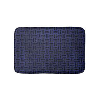 WOVEN1 BLACK MARBLE & BLUE LEATHER (R) BATH MAT