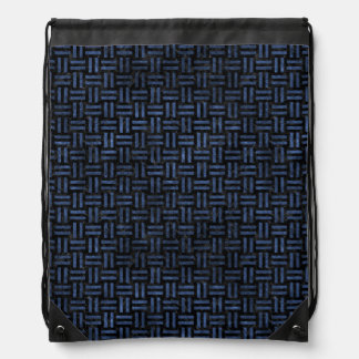 WOVEN1 BLACK MARBLE & BLUE STONE DRAWSTRING BAG