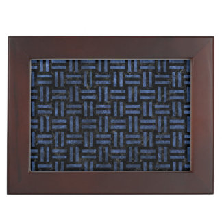 WOVEN1 BLACK MARBLE & BLUE STONE KEEPSAKE BOX