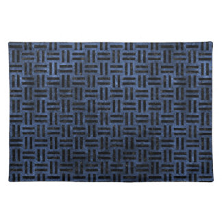 WOVEN1 BLACK MARBLE & BLUE STONE (R) PLACEMAT